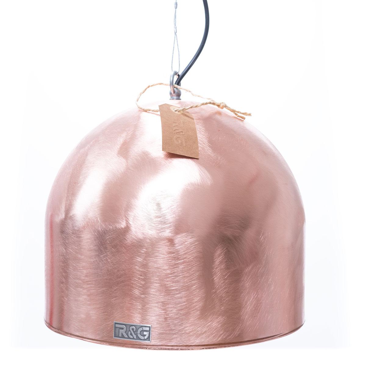 Koperen boiler hanglamp boiler rond