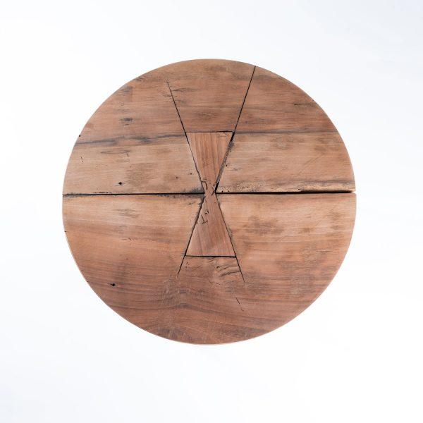 Kruk-Rond-Vlinderverbinding-Teak-grijs3