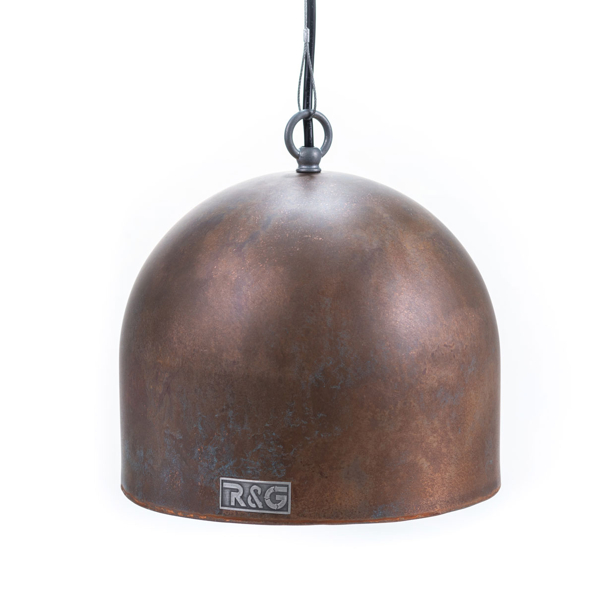 Verweerde hanglamp koper