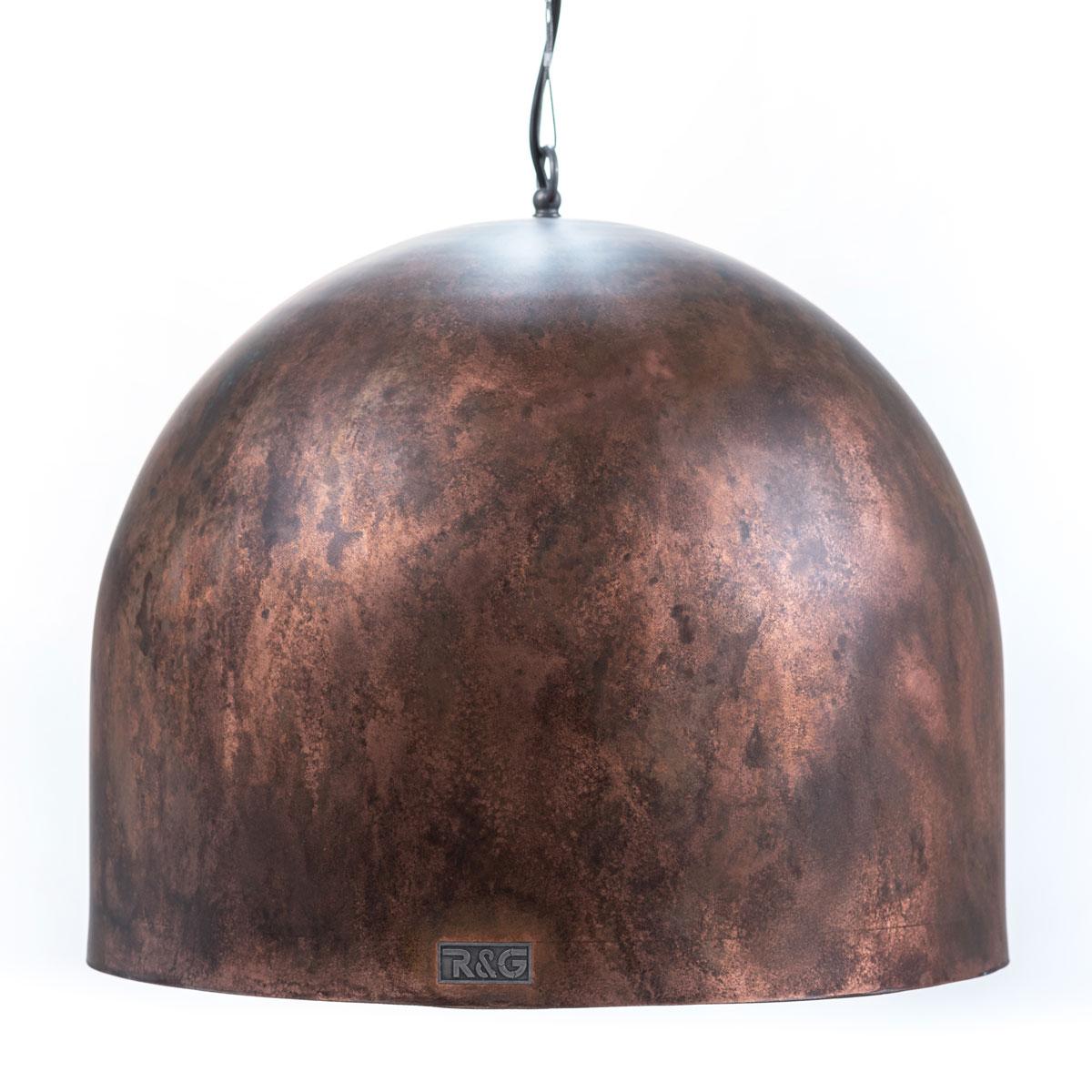 Industriële hanglamp verweerd