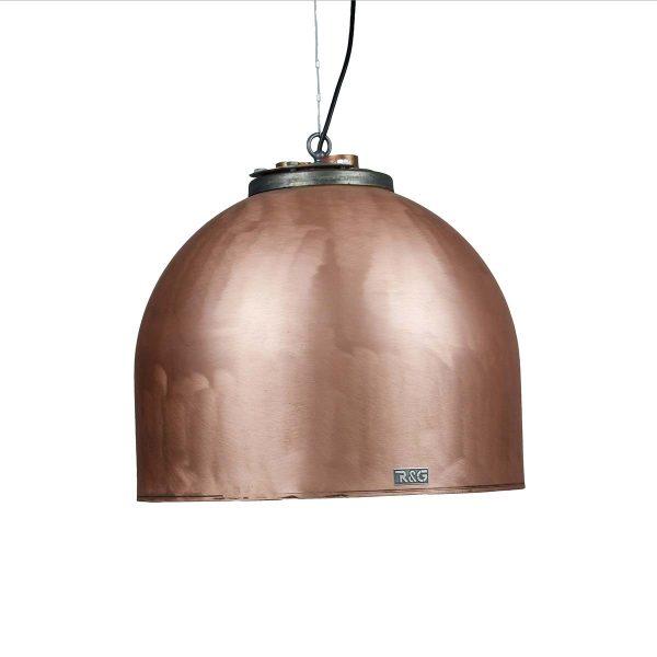 Koperen-boiler-hanglamp-Flens-XL-Geschuurd